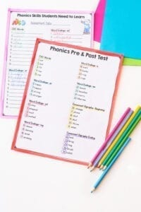Phonics worksheets and tests