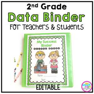 Image showing a 2nd Grade Data Binders for Teachers and Students with link to purchase from Teachers pay Teachers