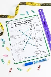 Selecting Measurement Tools Worksheet