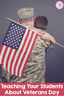Image of solder in fatigues holding a young boy that we can assume is his child, who is holding an american flag.