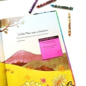 Picture of Ask & Answer Standard sticky note in Mae Among the Stars book