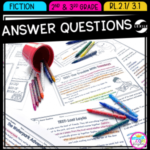 Answer Questions RI.2.1 & RI.3.1 with Lexile cover art
