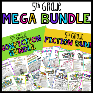 5th Grade nonfiction and fiction reading comprehension mega bundle