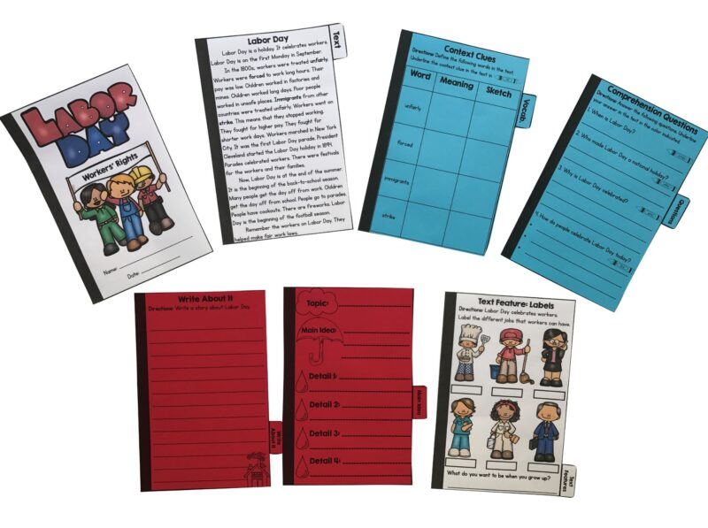 Labor Day Flip Book Activities 2nd Amp 3rd Grade Common