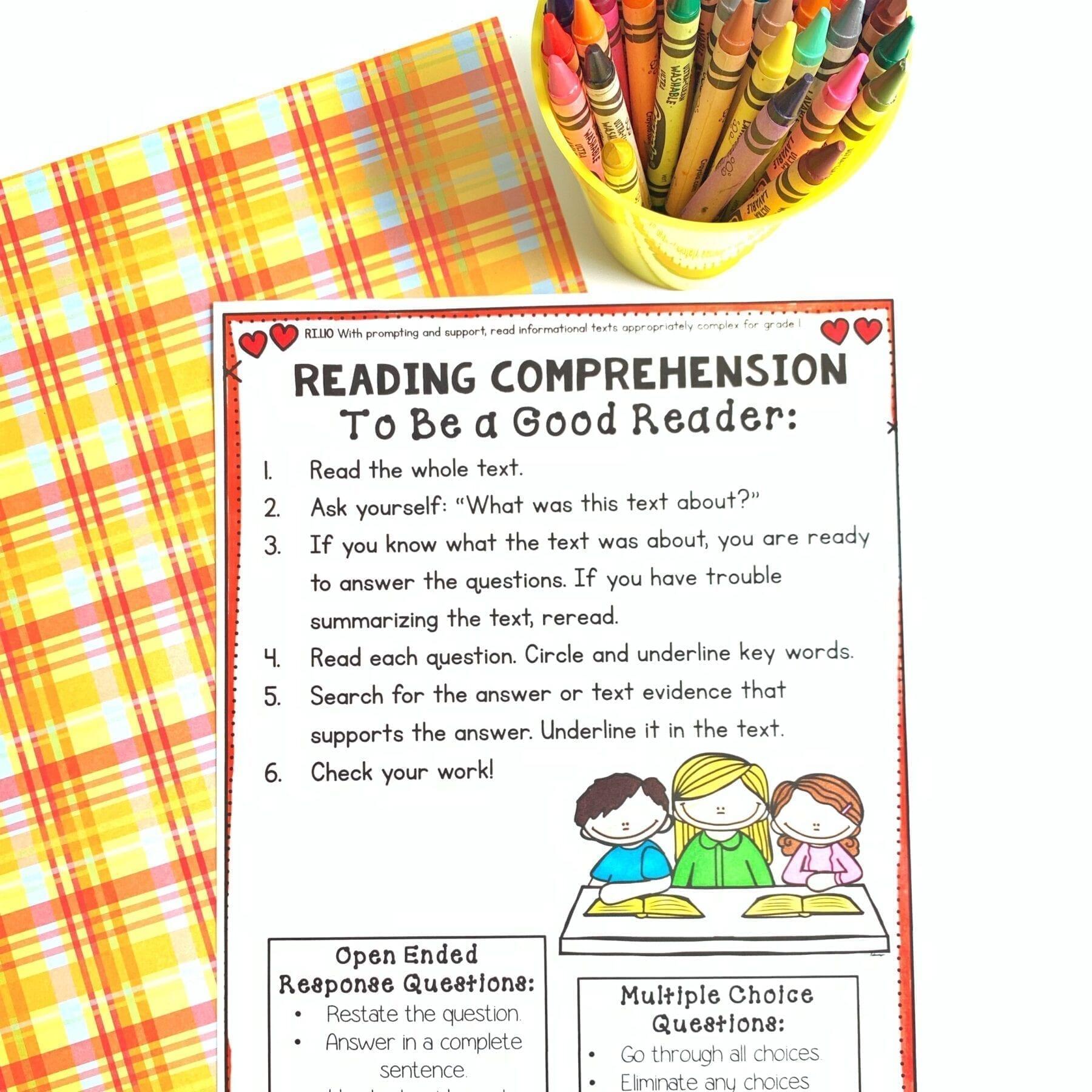 - Nonfiction Reading Comprehension - 1st Grade RI.1.10 Common Core