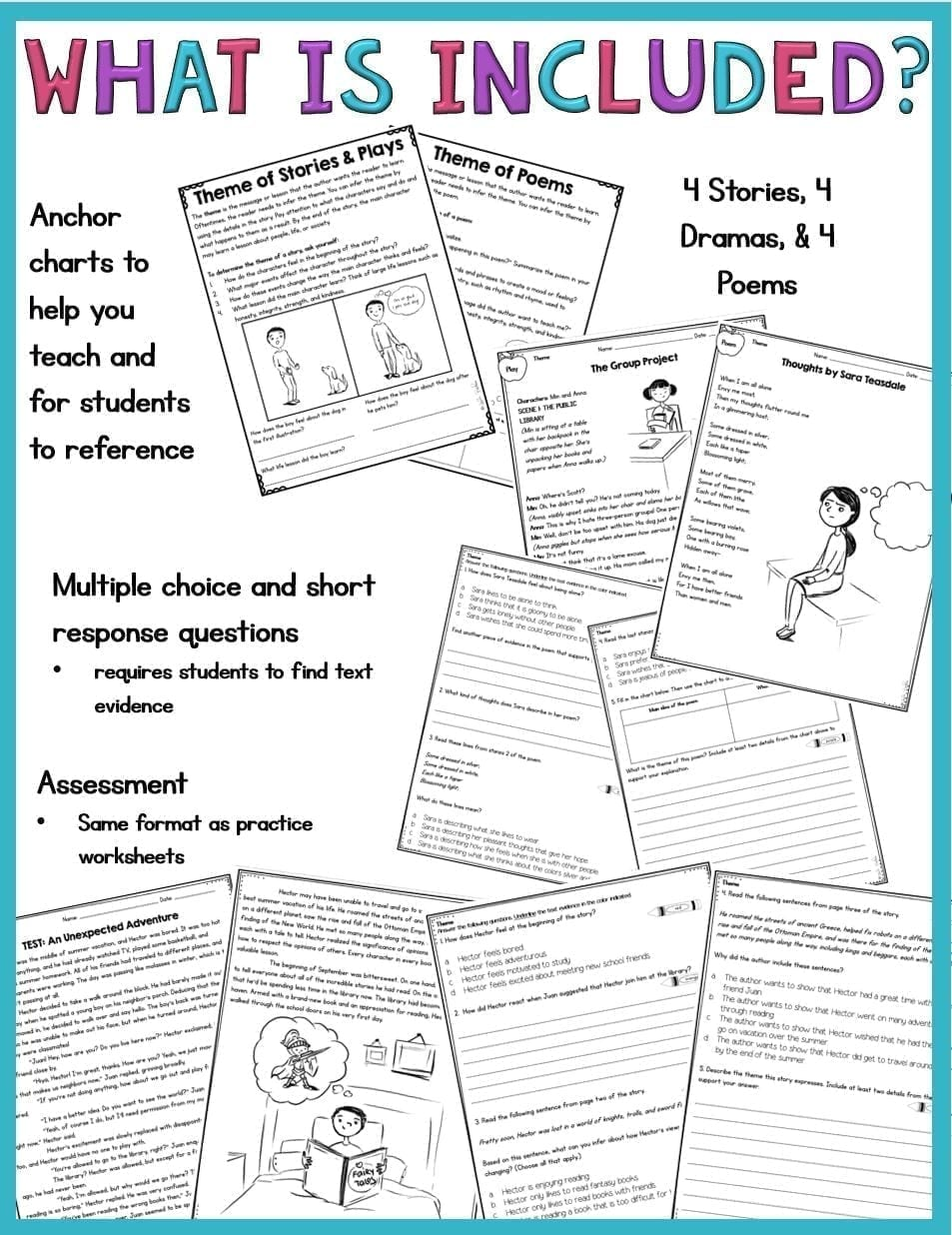 Poems 4th Grade Rl 4 2 And 5th