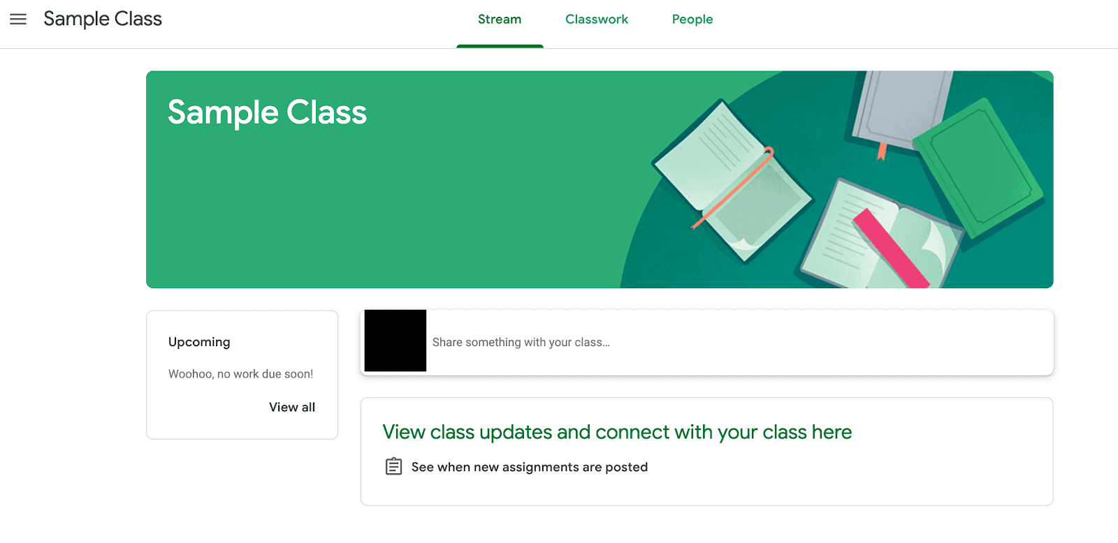 Screen shot showing a sample of the Google Classroom Login Screen