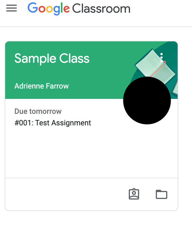 Google Classroom View Your Work Screenshot